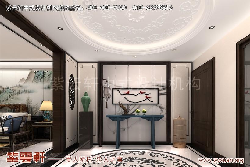 商丘中式装修设计复式楼案例,门厅中式装修效果图