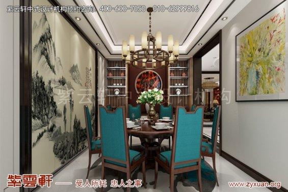 商丘中式装修设计复式楼案例,餐厅中式装修效果图
