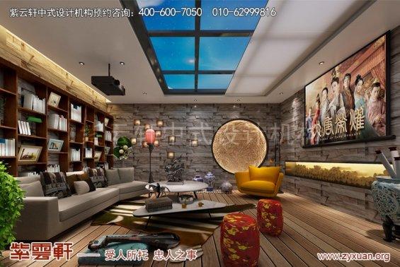 商丘中式装修设计复式楼案例,休闲室中式装修效果图