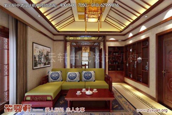 扬州唐郡别墅中式设计案例,休闲室中式装修效果图