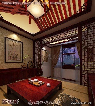 北京石景山四合院装修设计案例,茶室中式装修效果图