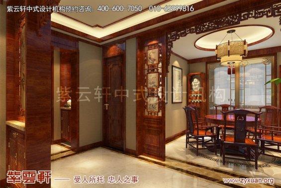 北京怀柔会所中式装修案例,玄关中式装修效果图