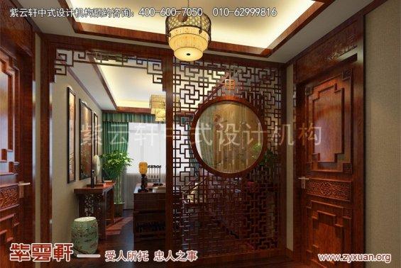 北京怀柔会所中式装修案例,书房中式装修效果图