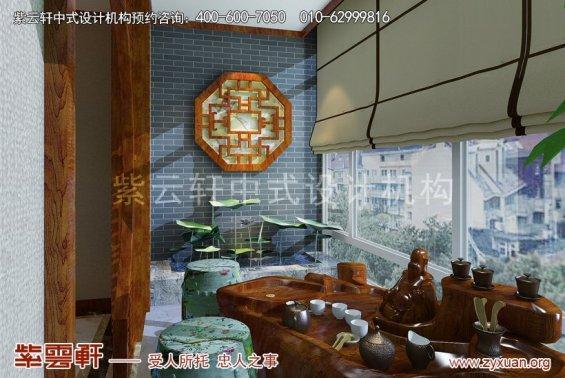 北京怀柔会所中式装修案例,休闲室中式装修效果图