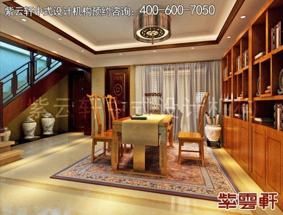 精品住宅新中式设计案例,书房中式装修效果图