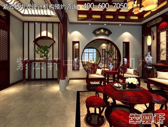 北京昌平金科王府中式设计案例,玄关中式装修效果图