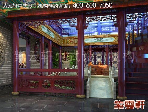 北京湾李总别墅古典中式设计案例,门厅中式装修效果图