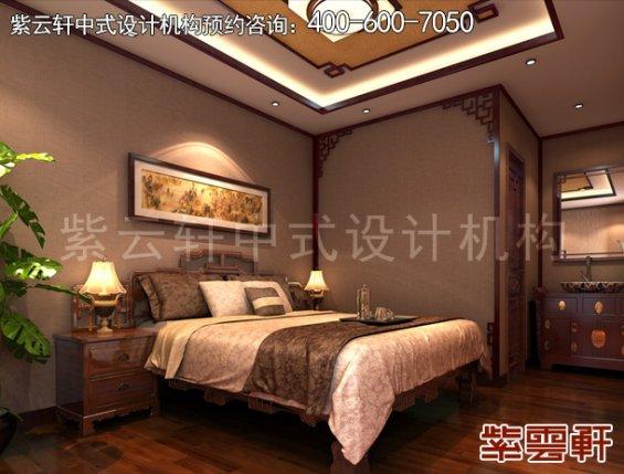 北京湾李总别墅古典中式设计案例,卧室中式装修效果图
