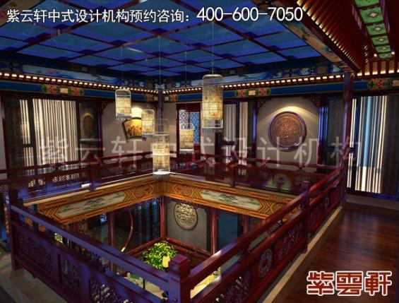 北京湾李总别墅古典中式设计案例,走道中式装修效果图