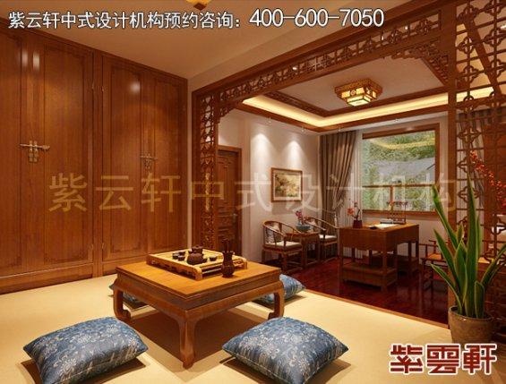 常州别墅古典中式设计案例,茶室中式装修效果图