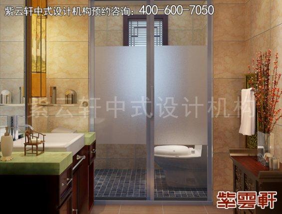常州别墅新中式设计案例,卫生间中式装修效果图