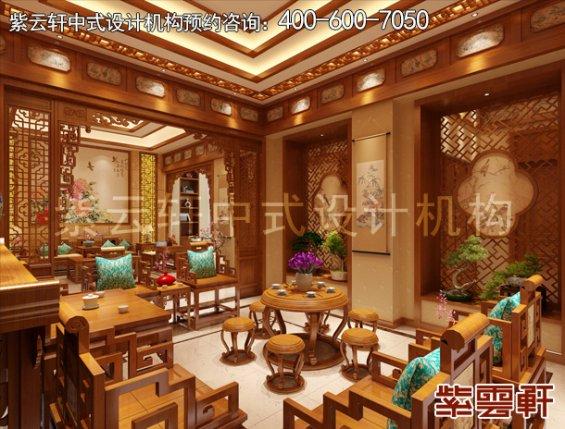 常州别墅古典中式设计案例,客厅中式装修效果图
