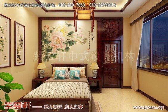 北京御汤山别墅中式装修效果图之东方艺术美,儿童房中式装修图