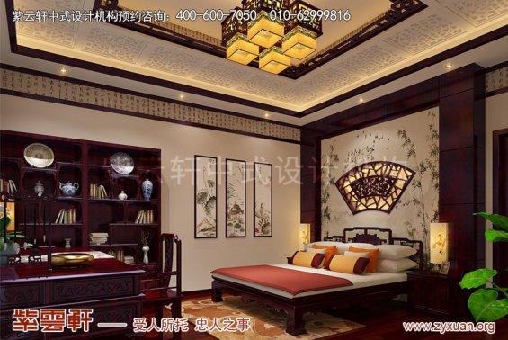 赤峰泰和王府刘总别墅中式设计案例,次卧中式设计图