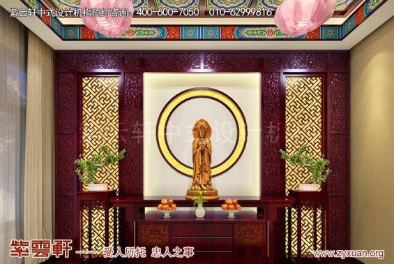 赤峰泰和王府刘总别墅中式设计案例,别墅佛堂中式设计图