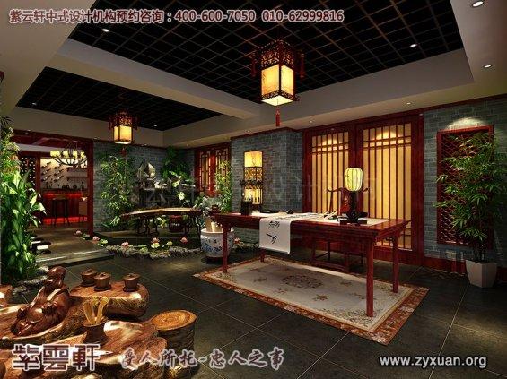 古典中式风格私人茶园,茶楼过道中式设计