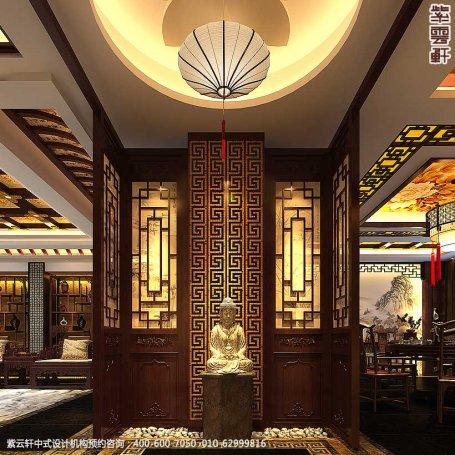 辽宁空中别墅古典中式设计案例,门厅中式装修效果图