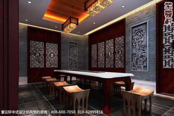 辽宁空中别墅古典中式设计案例,休闲室中式装修效果图