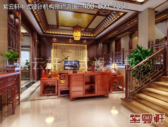 东阳范总别墅简约中式设计案例,客厅中式装修效果图