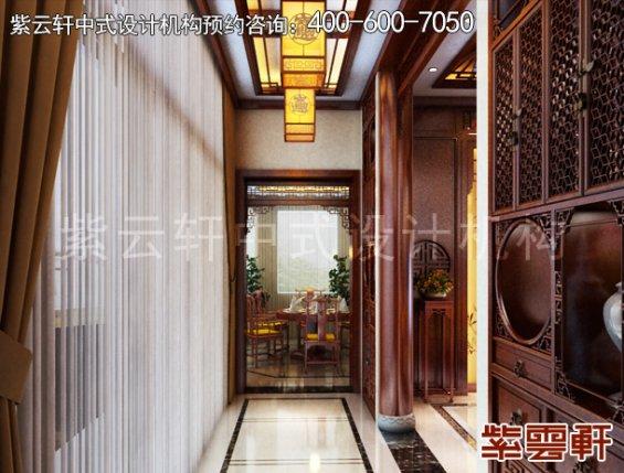 东阳范总别墅简约中式设计案例,玄关中式装修效果图