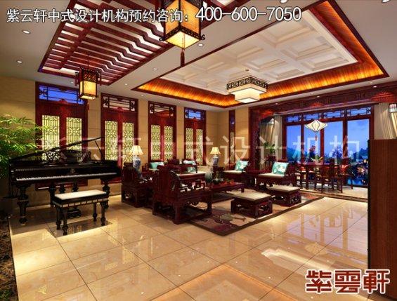 山东即墨黄总别墅古典中式设计案例,休闲室中式装修效果图
