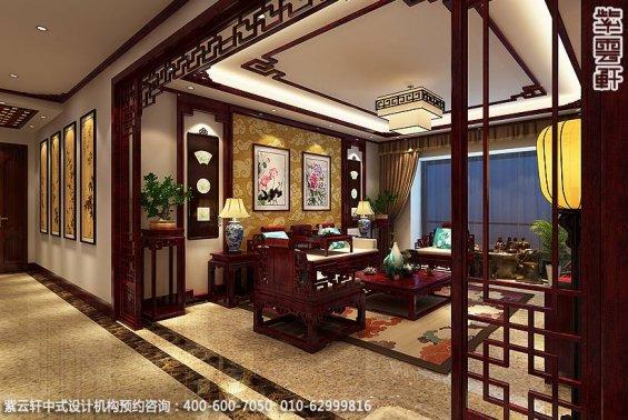 兰州精品住宅古典中式设计,客厅中式装修效果图