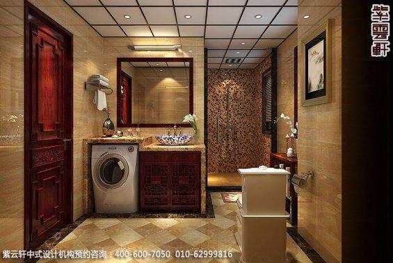 兰州精品住宅古典中式设计,卫生间中式装修效果图