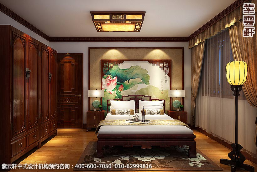 兰州精品住宅古典中式设计,卧室中式装修效果图