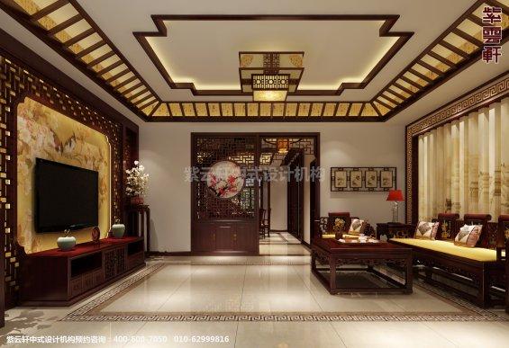 日照复式楼新中式设计案例,客厅中式装修效果图