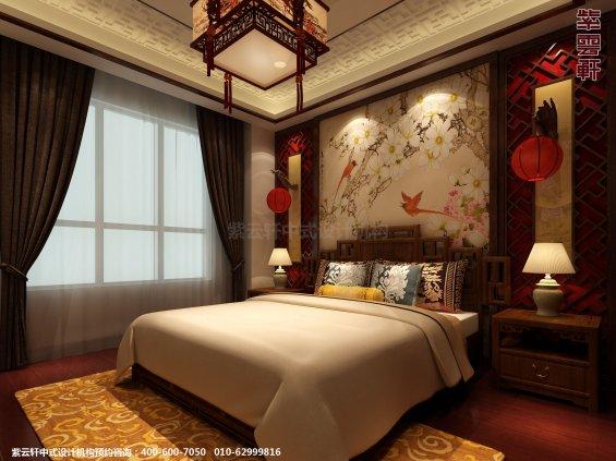 日照复式楼新中式设计案例,卧室中式装修效果图