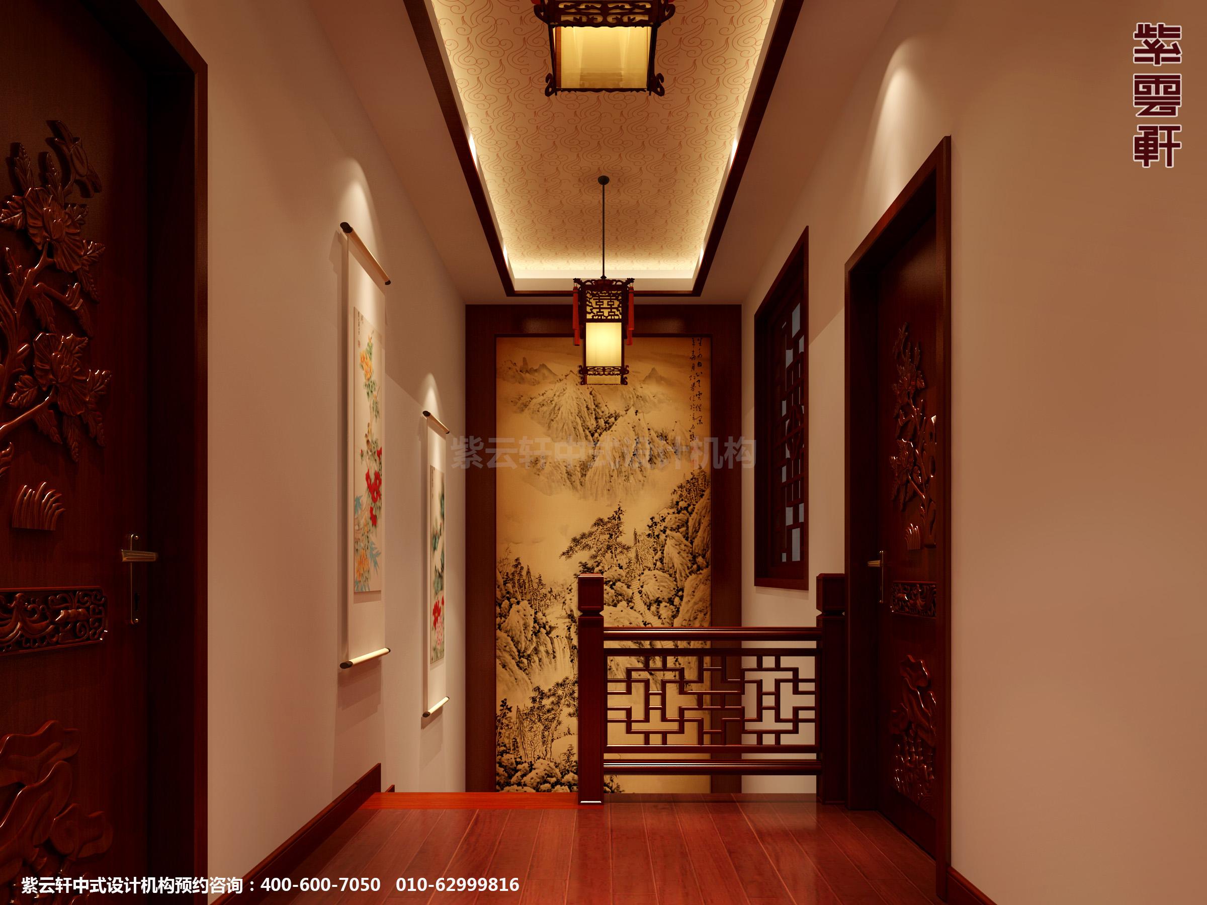主页 中式家装图片 过道  分享 标题:日照复式楼新中式设计案例,过道