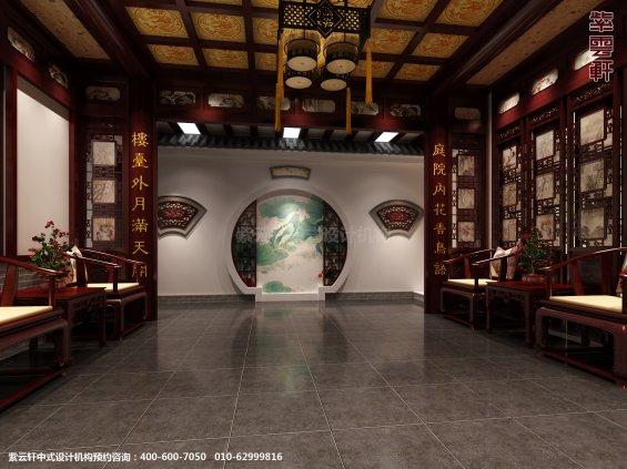 邢台别墅古典中式设计案例,客厅中式装修效果图