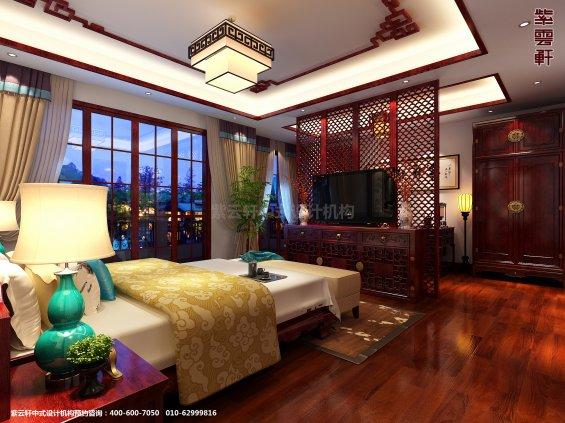 山东济南腊山别墅古典中式设计案例,茶室中式装修效果图