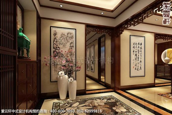 新中式装修风格案例,中式门厅设计图