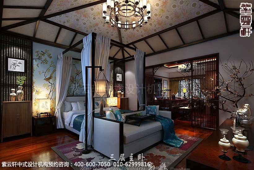 新中式装修风格案例,中式卧室设计图图片