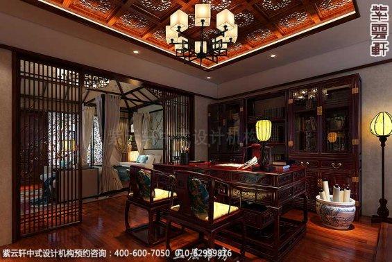新中式装修风格案例,中式书房设计图