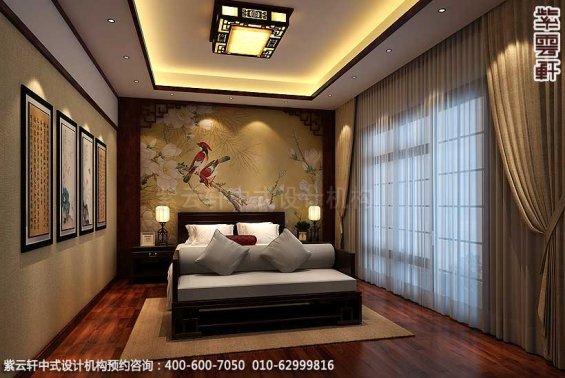 新中式装修风格案例,中式次卧设计图
