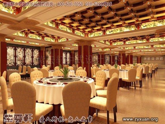 天津私房菜餐饮会馆新中式装修设计案例,大餐厅中式设计