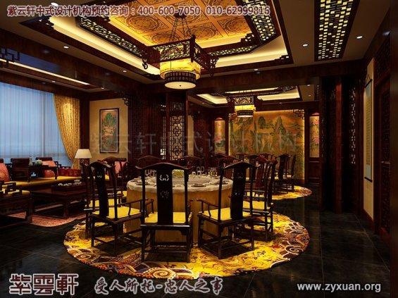 天津私房菜餐饮会馆新中式装修设计案例,餐厅包间中式设计图