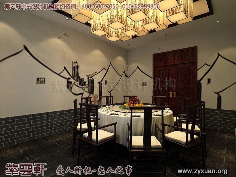天津私房菜餐饮会馆新中式装修设计案例,餐厅vtp包房中式设计图