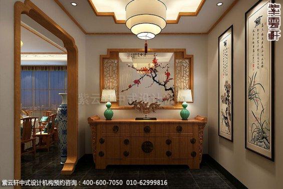 餐饮酒店中式装修案例赏析,中式门厅装修图