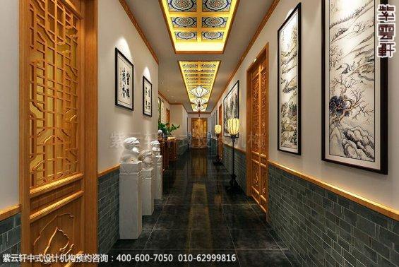 餐饮酒店中式装修案例赏析,中式过道装修图