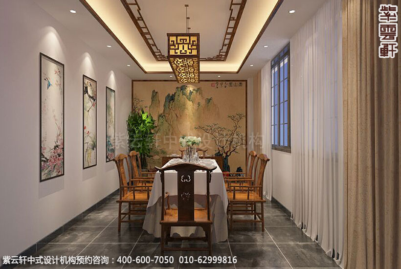 餐饮酒店中式装修案例赏析,餐厅茶室中式设计图