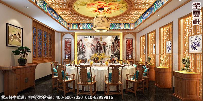 效果图 说明:         餐饮酒店中式装修案例赏析,餐厅包房中式装修图