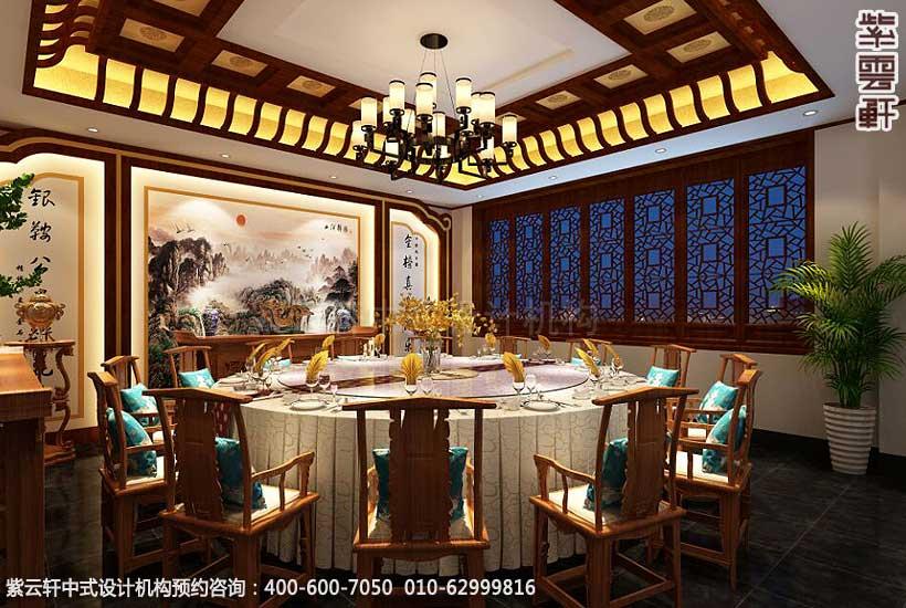 餐饮酒店中式装修案例赏析,餐厅大包间中式设计图