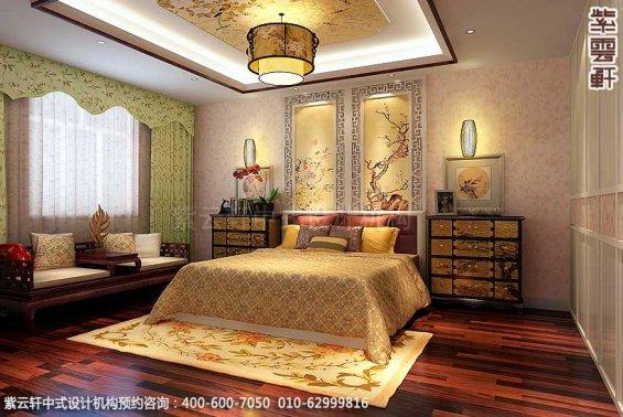 简约古典中式别墅装修案例,女儿房中式装修图