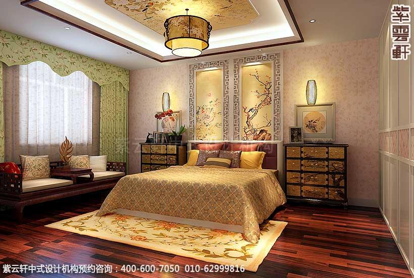 简约古典中式别墅装修案例,女儿房中式装修图_紫云轩