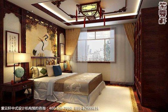 简约古典中式别墅装修案例,老人房中式设计图