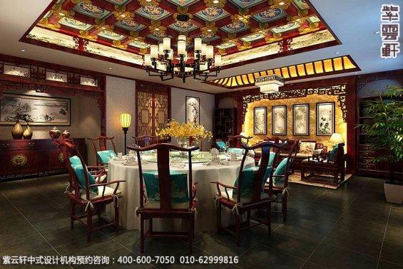 私人艺术会所古典中式装修效果图,中式会所餐厅装修图