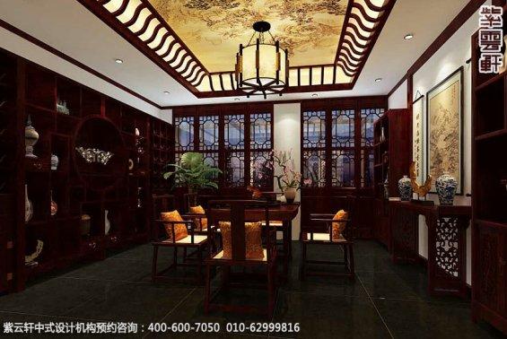 私人艺术会所古典中式装修效果图,茶室中式设计图
